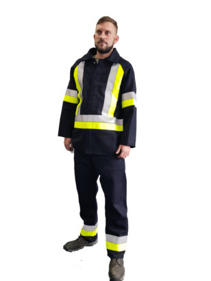 MM1 Trousers with Silver & Yellow reflective bands and TG4701J MM1 Jacket with Silver & Yellow reflective bands